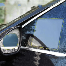 2 pieces/set of 24X20CM large car window waterproof anti-fog transparent film non-injury mirror environmental protection ca