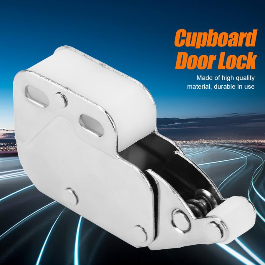 10Pcs Mini Push Cupboard Touch Catch Latch Lock Bounce Cabinet Door Latch Anti-Theft Cupboard Doors Lock Furniture Hardware
