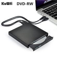 DVD ROM محرك الأقراص الضوئية الخارجية USB 2.0 CD/DVD-ROM CD-RW لاعب الموقد ضئيلة قارئ مسجل المحمولة لأجهزة الكمبيوتر المحمول ويندوز ماك بوك