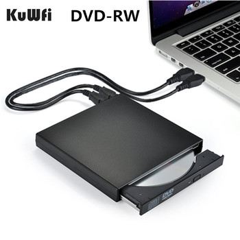 DVD ROM External Optical Drive USB 2.0 CD/DVD-ROM CD-RW Player Burner Slim Reader Recorder Portable for Laptop windows Macbook usb dvd drives optical drive external dvd rw burner writer recorder slot load cd rom player for apple macbook pro laptop pc 24x