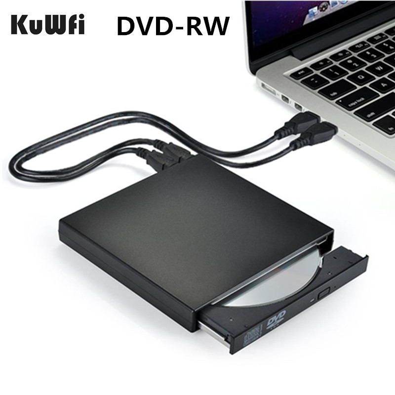 DVD ROM External Optical Drive USB 2.0 CD/DVD-ROM CD-RW Player Burner Slim Reader Recorder Portable for Laptop windows Macbook