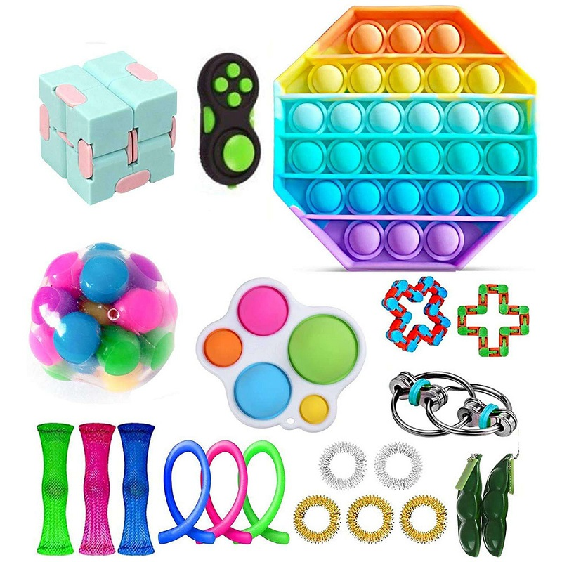 Toys-Set Toy-Pack Fidget Marble Msxf It-Box-Strings Gift Relief Anti-Stress Adults Children