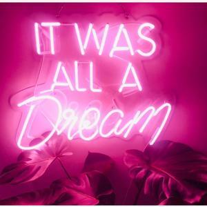 Image 1 - Nowy zwyczaj to wszystko było marzenie niebieski biały czerwony różowy głęboki błękit fioletowy turkusowy zielony żółty szklana lampa neonowa na piwo do baru