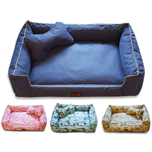 Dog bed mat, winter house pad, pet house, dog nest, striped  with kennel for small dogs removable cozy nest