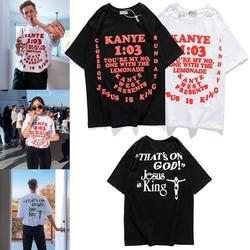 Summer Style Kanye West Season 1:1 Jesus Is King Offset Printing Women Men T shirts tees Hiphop Men Cotton T shirt Oversized