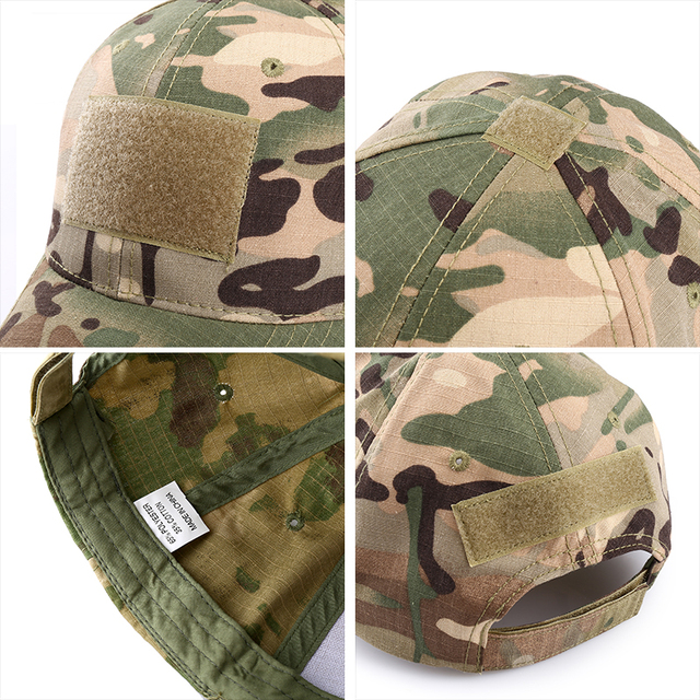 Outdoor Multicam Camouflage Adjustable Cap Mesh Tactical Military Army Airsoft Fishing Hunting Hiking Basketball Snapback Hat 5