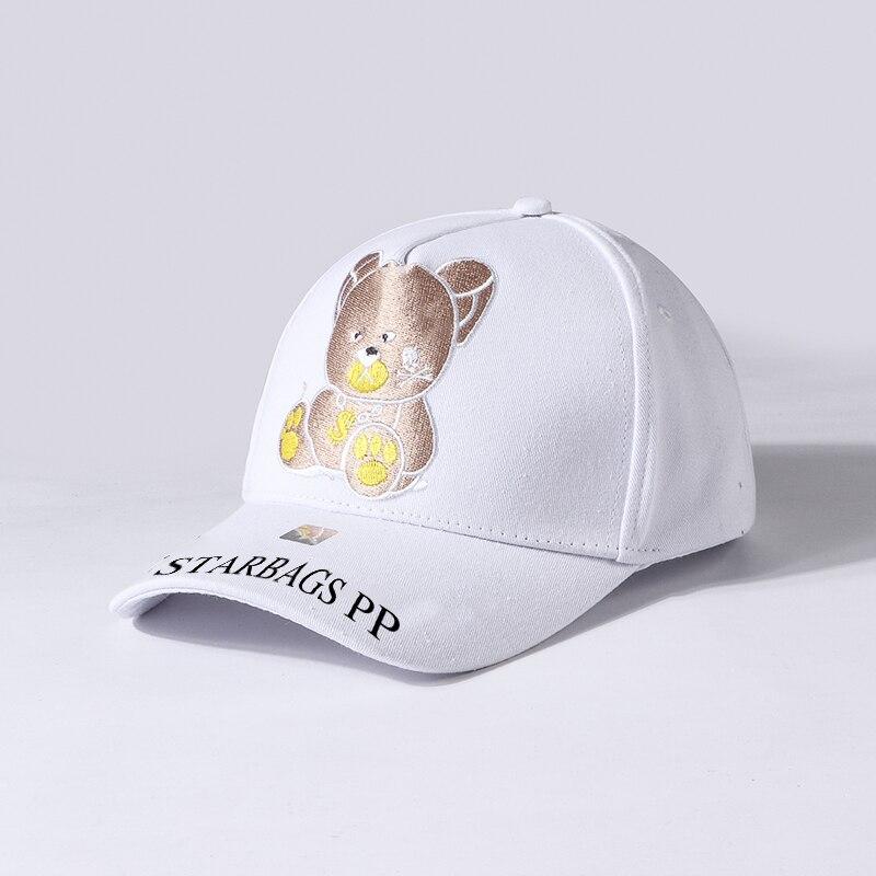 Star bags pp original skull logo new embroidery Cartoon Bear cool hat adjustable casual baseball cap touring cap sports cap