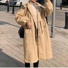 Женское пальто с капюшоном genayoa офисное свободное однотонное
