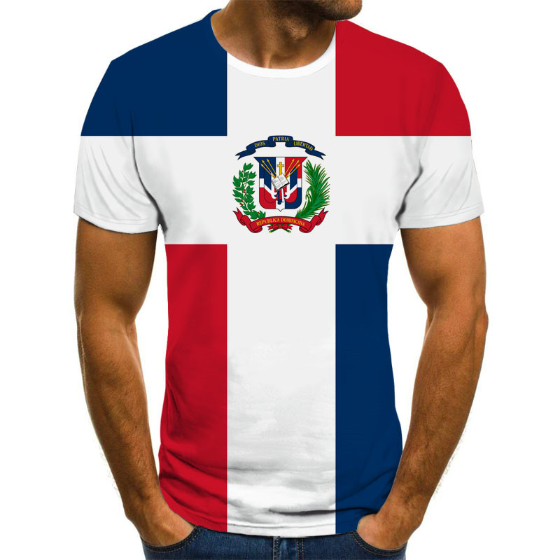 3D Flag Printing Men's T-shirt Casual Round Neck High Quality Streetwear Casual Clothing