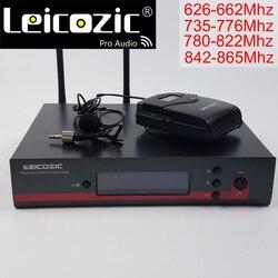 Leicozic UHF mikrofon bezprzewodowy mikrofon lavalier profesjonalny UHF 135G3 100G3 g3 U system mikrofonowy marki prawdziwa różnorodność mic w Mikrofony od Elektronika użytkowa na