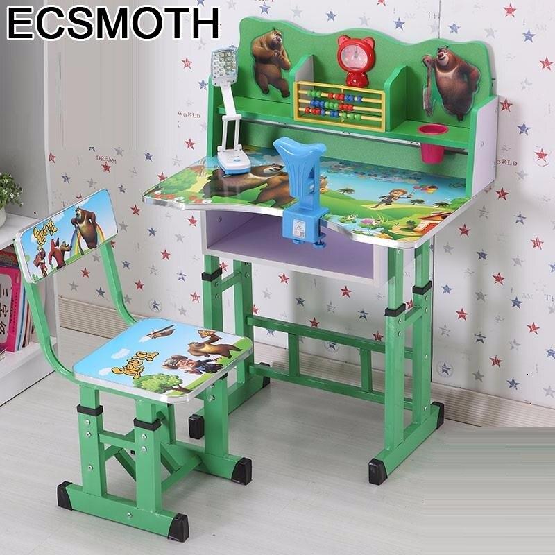 Per Pupitre Infantiles Kindertisch Scrivania Bambini Mesa Y Silla Infantil Adjustable Kinder Bureau Enfant Study Table For Kids