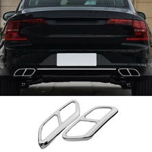 Car Pipe Throat Exhaust Muffler Outputs Tail Frame Cover Trim Accessories for Volvo S90 2016-2019