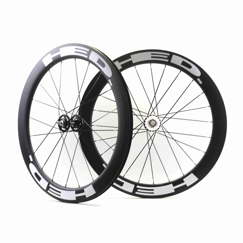 700c Carbon track wheels fixed gear carbon wheelset 60mm clincher single speed bike wheels fixie carbon wheelset