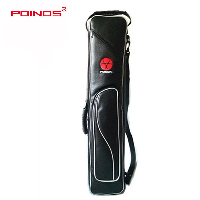 POINOS Soft Pool Cue Case 8 Holes 3 Butts 5 Shafts Case Billiard Pool Cue Bag Stick Portable High Quality Handmade Carrying Case