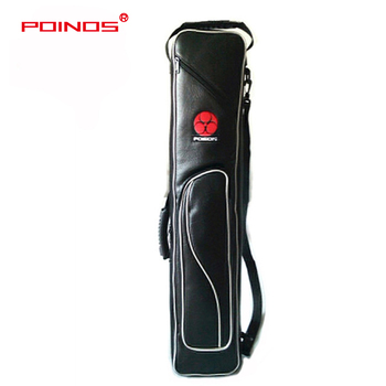 POINOS Soft Pool Cue Case 8 Holes 3 Butts 5 Shafts Case Billiard Pool Cue Bag Stick Portable High Quality Handmade Carrying Case 2018 new preoaidr pool cue case billiard stick carrying case supreme cue case pool billiards premium case for kits