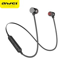 AWEI T11 אלחוטי Bluetooth אוזניות עם מיקרופון Neckband ספורט אוזניות דיבורית משחקי אוזניות אוזניות עבור Samsung iPhone
