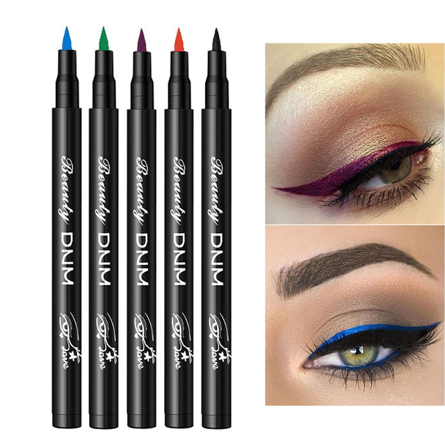 12 Color Matte Liquid Eyeliner Pencil Colorful Waterproof Long-lasting Cosmetics Make Up Green Blue Eye Liner Pen Makeup Tools
