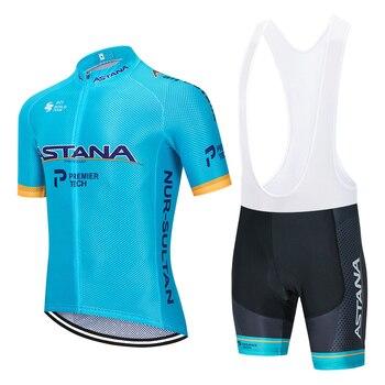 Nuevo 2020 equipo ASTANA ciclismo jersey 20D bicicleta pantalones conjunto mtb Ropa...
