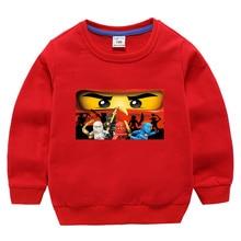 лучшая цена 2019 Summer Kids Boys T-shirt Ninja Ninjago T Shirts Children Clothing Cotton Hoodie Tees Boys Girls Cartoon Costume 2-10y