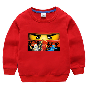 2019 Summer Kids Boys T-shirt Ninja Ninjago T Shirts Children Clothing Cotton Hoodie Tees Girls Cartoon Costume 2-10y