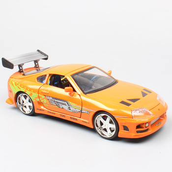 children's 1/24 scale classic TOYOTA SUPRA Mark IV sports racing 1995 model car toy Diecasts & Toy Vehicles auto of collection image