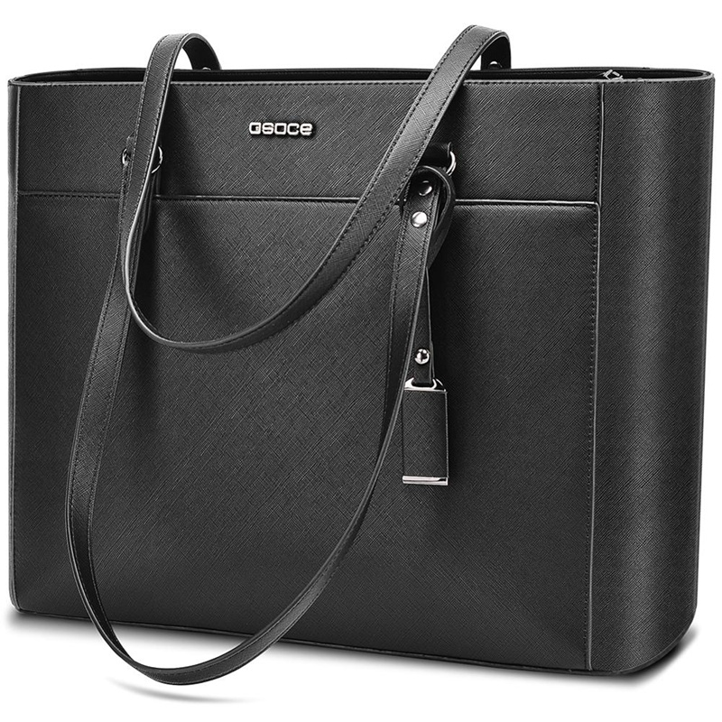 OSOCE Briefcase 15.6 Inch Laptop Bag Waterproof Handbag Protective Bag Laptop Tote Case Shoulder Bag Office Bags For Women Men