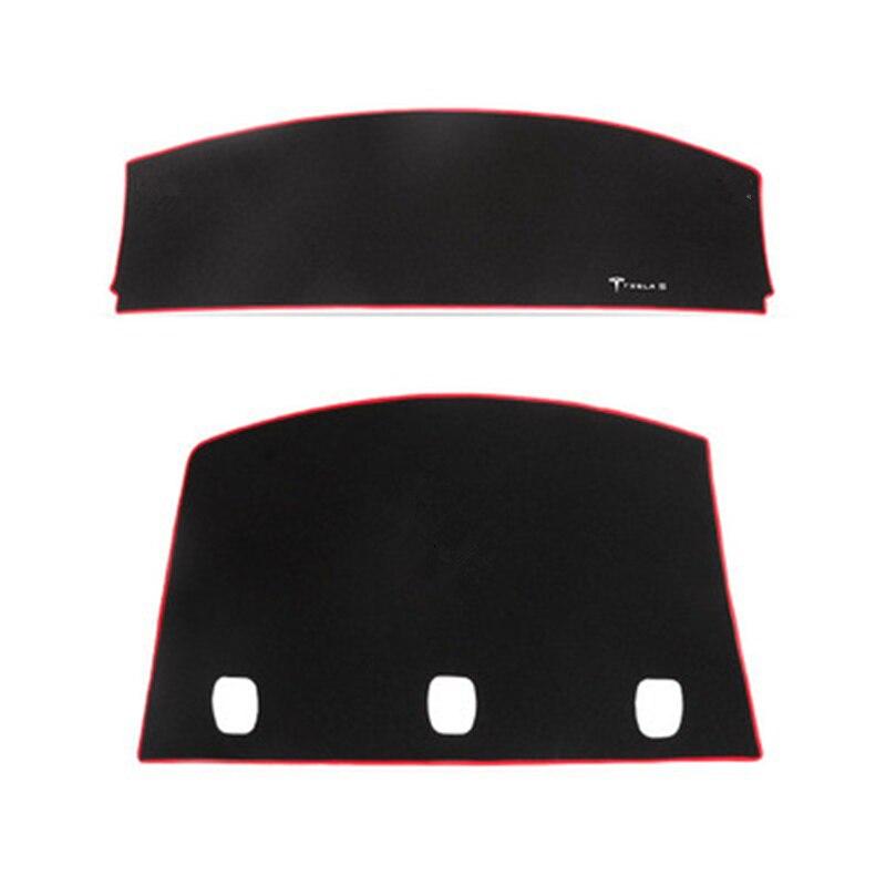 Pour Tesla modèle 3 tapis de couverture de tableau de bord éviter la lumière pad Instrument plate-forme tapis de bureau pour Tesla Model3 2018 2019 2020 - 3