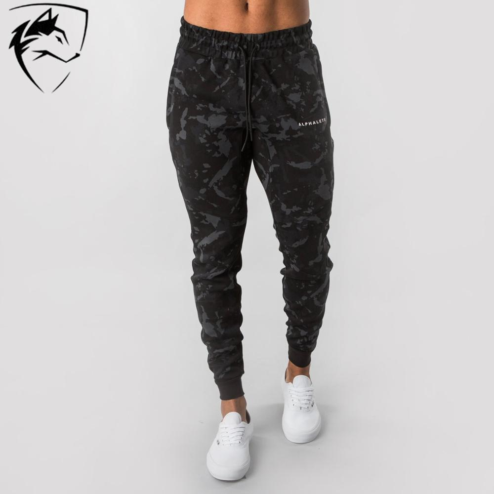 ALPHALETE Brand New Mens Joggers Sweatpants Gyms Camouflage Pants Fitness Men Training Sportswear Trousers Camo Casual Pants