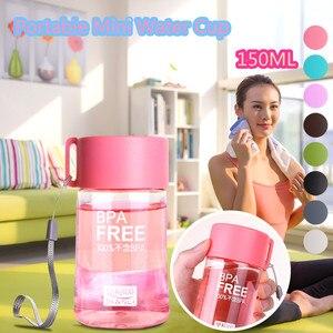 Portable Plastic Sporst Water Bottle 150ml Drinking Bottle Transparent Fruit Flower Tea Water Bottles Bpa Free Girl Gift Kettle