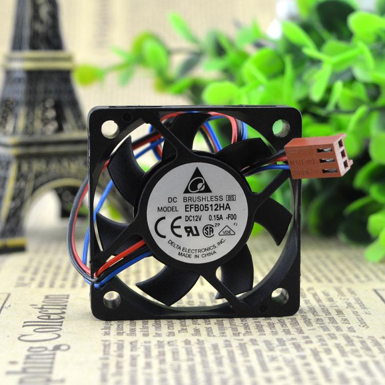 EFB0512HA DELTA Delta 5010 12V 0.15A 5CM Cm 4-wire PWM Fan CPU Fan