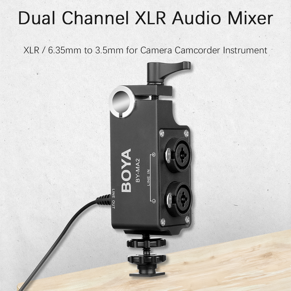 XLR-PRO Universal XLR Microphone Adapter for Camcorders and DSLR