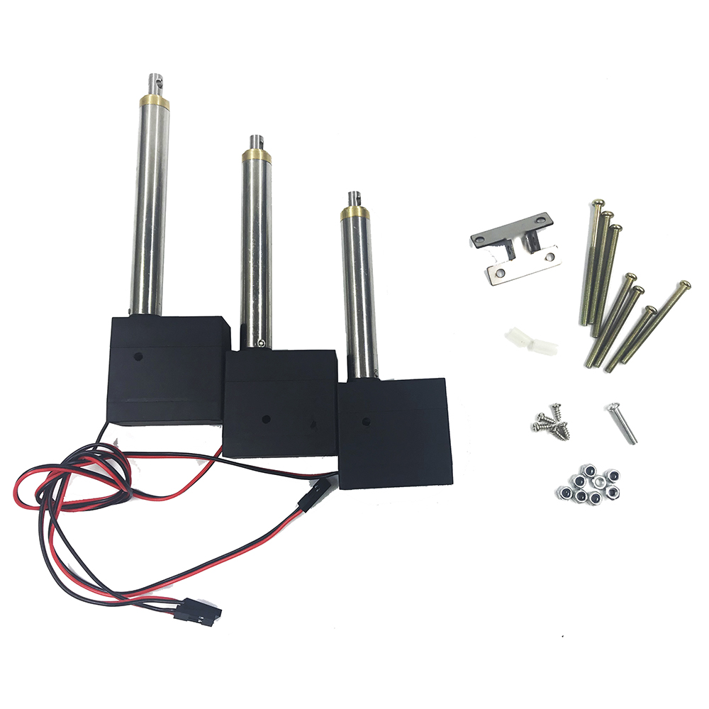 3PCS Huina Plastic Strength Main Arm Second Arm Bucket Arm Driving Rod With Servo For Huina 550 RC Excavator RC Car Parts