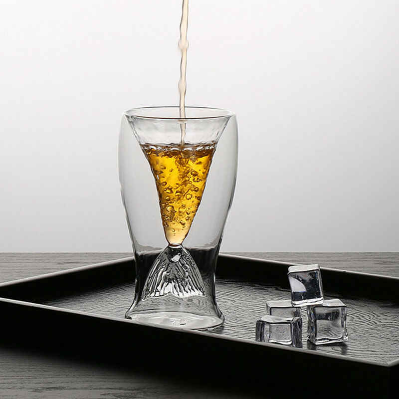 Faroot クリエイティブ 80 ミリリットル手作りダブルガラスコーヒー茶ビール人魚の尾カップファッション透明オフィス家庭用カップ