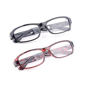 Kobiety mężczyźni żywica czytanie okulary czytniki soczewki prezbiopia przenośne okulary seniorzy okulary powiększające
