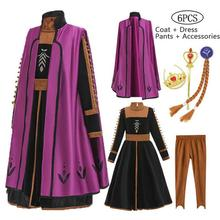 New 2020 2 Anna Elsa Dress Girls Kids Dresses