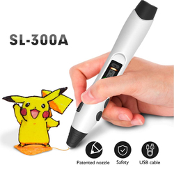 Enotepad SL-300A 3D Pen DIY 3D Printing Pen With 100M PCL/PLA Filament Creative Toy Gift For Kids Design Drawing