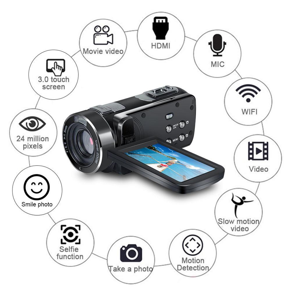 Cewaal P7 Full HD 4K 1080P Video Kamera Professionelle Nacht Vision Anti Schütteln Digitale Foto Vlog Kamera camcorder Flow Stabilisator - 2