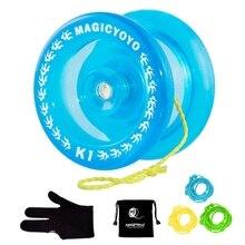 MAGIC yoyo Crystal Blue K1 отзывчивый мяч Йо-Йо, 3 струны+ перчатка+ сумка йо-йо подарок