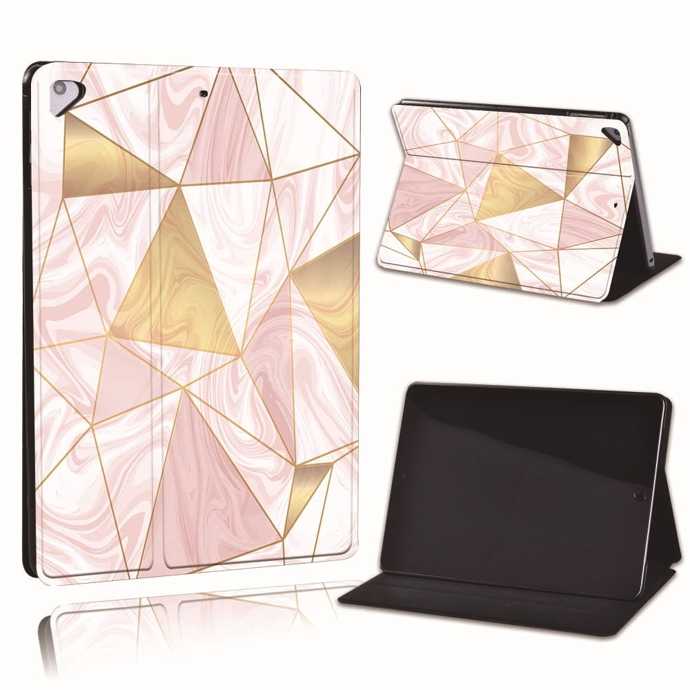 12.pink marble Silver For Apple iPad 8 10 2 2020 8th 8 Generation A2428 A2429 Slim Printed Geometry PU