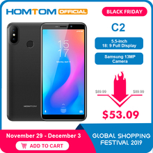 Global version HOMTOM C2 Android 8.1 2GB+16GB Mobile Phone F