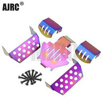 MJRC 5 piece stainless steel chassis armored protection skid plate Traxxas TRX 4 TRX4 82056 4 RC car protection board 2019 NEW