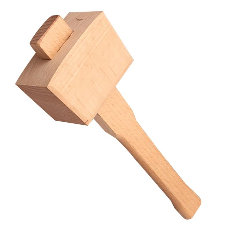 Твердый древесный Столярный молоток из бука, деревянный молоток, ручка, деревообрабатывающий инструмент