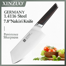 XINZUO 7.8 มีดครัว DIN 1.4116 Nakirir มีดคุณภาพสูงใหม่ผักสับเนื้อมีด Ebony Handle