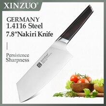 Xinzuo 7.8 包丁ステンレス鋼の din 1.4116 nakirir ナイフ高品質新野菜チョッピング肉ナイフ黒檀ハンドル