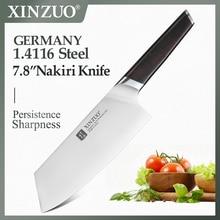 Xinzuo 7.8 din din faca de cozinha din 1.4116 nakirir facas aço inoxidável alta qualidade novo vegetal cortar carne faca ébano lidar com