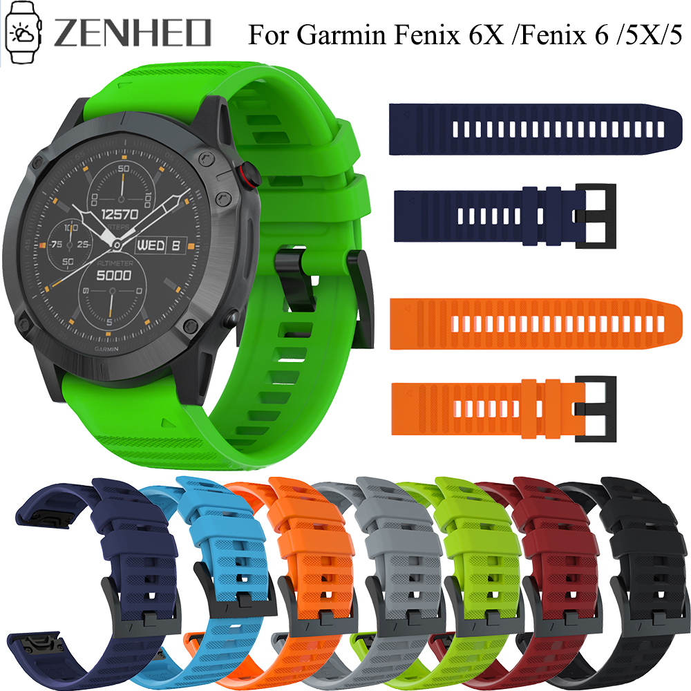 22mm 26mm Strap Quick Release Watchband For Garmin Fenix 6X/5X/ Fenix 6/5/ Fenix 3 3 HR Watch Band For Garmin Forerunner 945 935