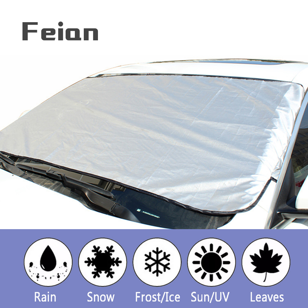 Universal Car Car Shield Half Cover Front Glass Snow Protection Anti-icing Insulated Car Cloth Hatchback Sedan SUV Car Accessory