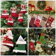 MomoArt Damond Embroidery Cartoon Mosaic Christmas Socks DIY Needlework 5D Diamond Painting Cross Stitch Full 100% Rhinestones