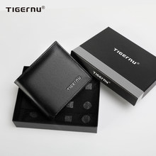 Tigernu New High Quality Wallets Men Thin Money Purse Male Business Card Holder For Men Fashion Brown Leather Wallet Short Purse
