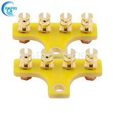 PAPRI 10PCS 4-Posts FR4 Gold Plated Machined Brass Tag Strip Tag Board Turret Terminal Lug Board For HIFI DIY Tube Amplifier